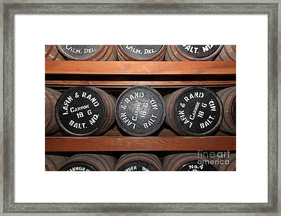 Gun Powder Room At San Francisco Fort Point 5d21511 Framed Print by Wingsdomain Art and Photography