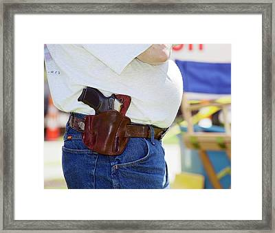 Gun Rights Advocates Framed Print by Jim West
