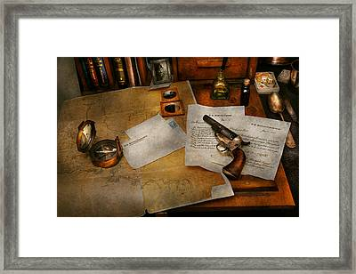 Gun - The Adventure Of Military Life  Framed Print by Mike Savad