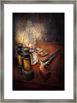 Gun - The Adventures Code  Framed Print