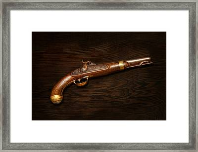 Gun - Us Pistol Model 1842 Framed Print by Mike Savad