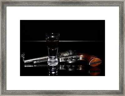 Gun With Smoke Framed Print