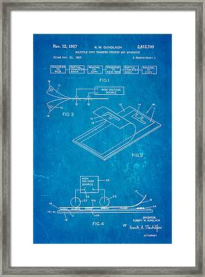 Gundlach Photocopier Patent Art 1957 Blueprint Framed Print by Ian Monk
