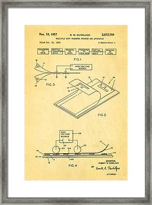 Gundlach Photocopier Patent Art 1957 Framed Print by Ian Monk