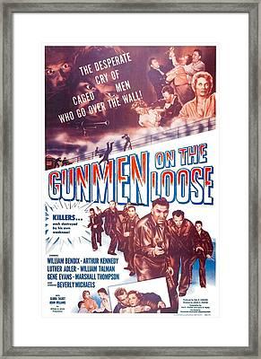 Gunmen On The Loose, Us Poster, William Framed Print
