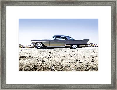 Gunmetal -metal And Speed Framed Print by Holly Martin