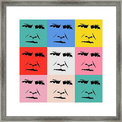 Gunnar Hansenpopart Framed Print