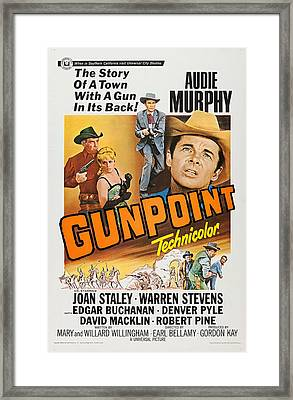 Gunpoint, L-r Audie Murphy, Joan Staley Framed Print
