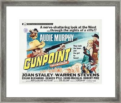 Gunpoint, Us Lobbycard, Center Framed Print