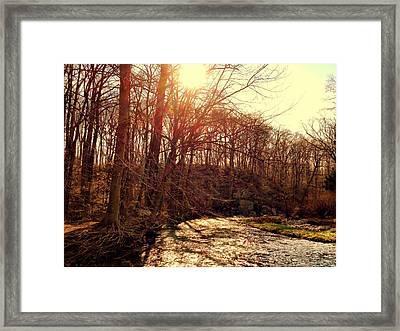 Gunpowder River Framed Print