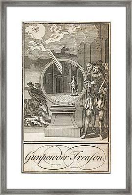 Gunpowder Treason Framed Print by British Library
