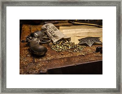 Guns And Gold Framed Print