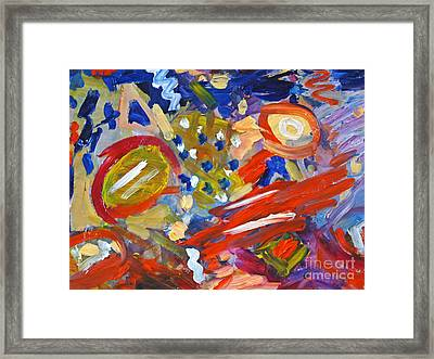 Guns Are Chaos Framed Print