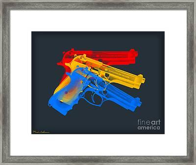 Guns Framed Print by Mark Ashkenazi