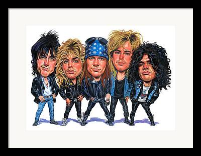 Axl Rose Paintings Framed Prints