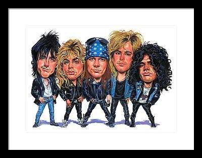 Guns N Roses Axl Rose Framed Prints
