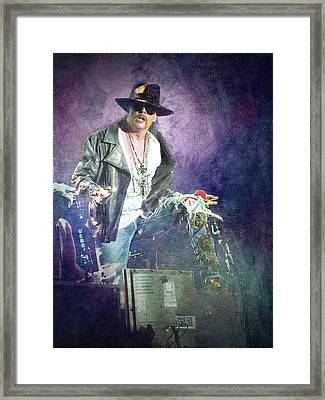 Guns N' Roses Lead Vocalist Axl Rose Framed Print