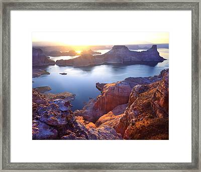 Gunsight Bay Sunrise Framed Print