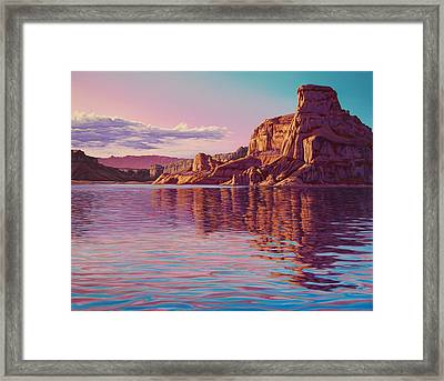 Gunsight Butte Framed Print