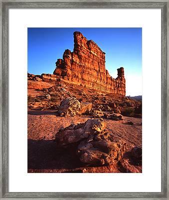 Gunsight Rock Framed Print by Ray Mathis