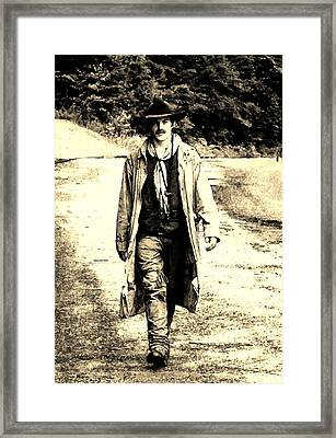 Framed Print featuring the photograph Gunslinger by B Wayne Mullins