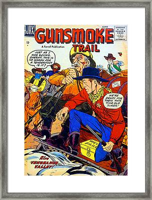 Gunsmoke Trail Framed Print