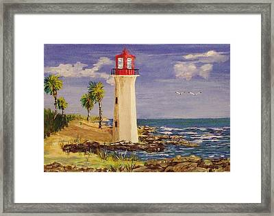 Guardian Of The Coast Framed Print