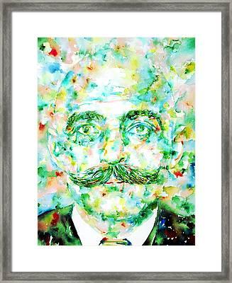 Gurdjieff- Watercolor Portrait Framed Print