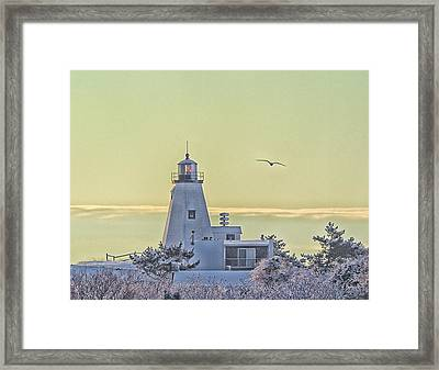 Gurnet Light After A Snow Storm Framed Print