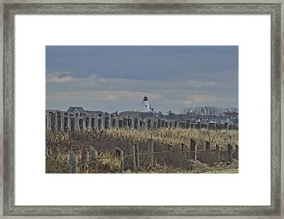 Gurnet Posts And Light Framed Print