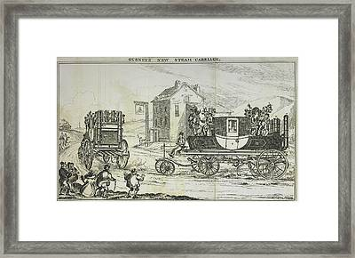 Gurney's Steam Carriage Framed Print by British Library
