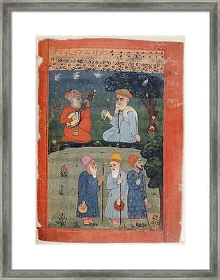Guru Nanak Mardana & Fakirs Framed Print by British Library