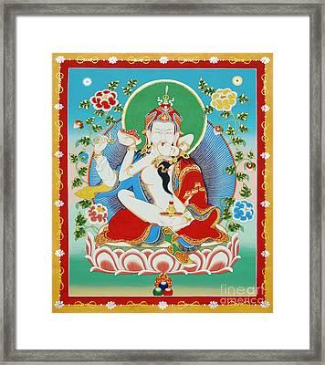 Guru Rinpoche Yab Yum Framed Print
