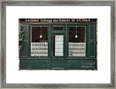Gustave Courbet Ate Here Framed Print by Olivier Le Queinec