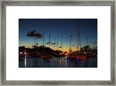 Gustavia St Barts Harbor Impressions Framed Print