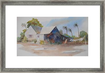 Framed Print featuring the painting Gusty by John  Svenson