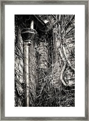 Gutter Pipe Framed Print by John Rizzuto