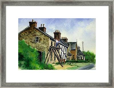 Gutter Repair Port Rush Ireland Framed Print