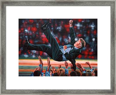 Guus Hiddink Framed Print by Paul Meijering