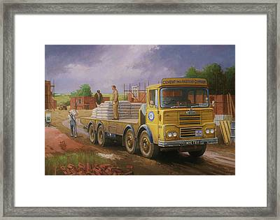 Guy Big J Eightwheeler. Framed Print