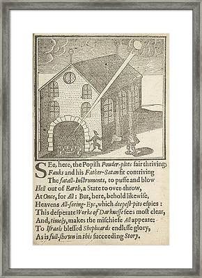 Guy Fawkes And Satan Framed Print by British Library