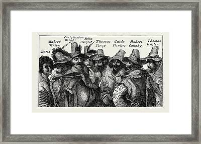 Guy Fawkes And The Conspirators Framed Print