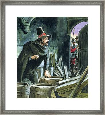 Guy Fawkes, From Peeps Into The Past Framed Print