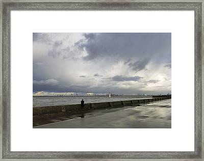 Guy In The Red Trousers Framed Print