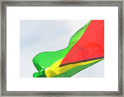 Guyana National Flag, Georgetown Framed Print by Keren Su
