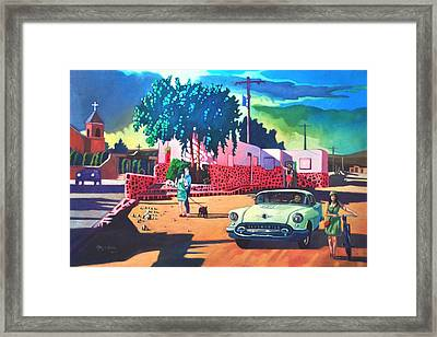 Guys Dolls And Pink Adobe Framed Print by Art James West
