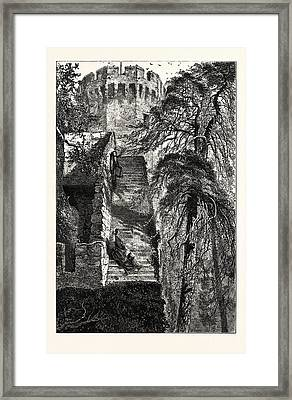 Guys Tower And The Walls Of Warwick Castle, Uk, Britain Framed Print