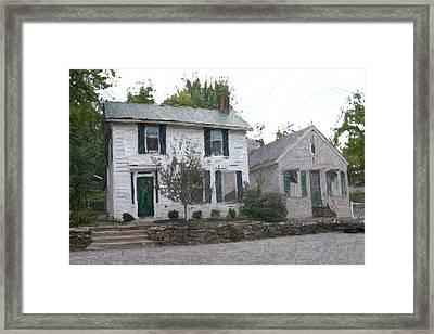 G.v. Calvert House And Wheat Crane - Perryville Ky Framed Print