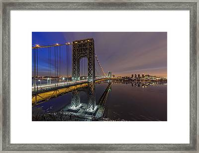 Gwb For Super Bowl Xlviii Framed Print