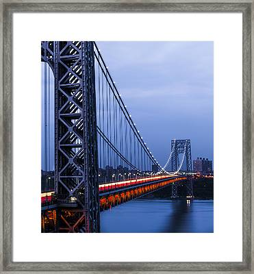 Gwb From Fort Lee Framed Print by Chris Halford